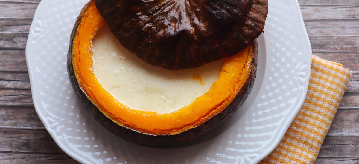 Zucca ripiena di formaggio